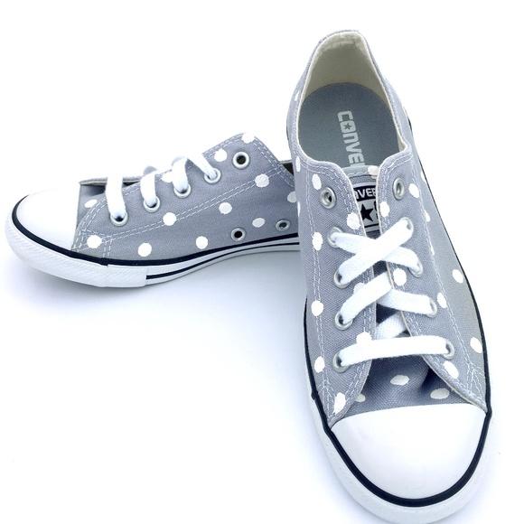 Converse Shoes - Converse Dainty GRAY Polka Dot Chuck Taylor AS 7fff1c0fa